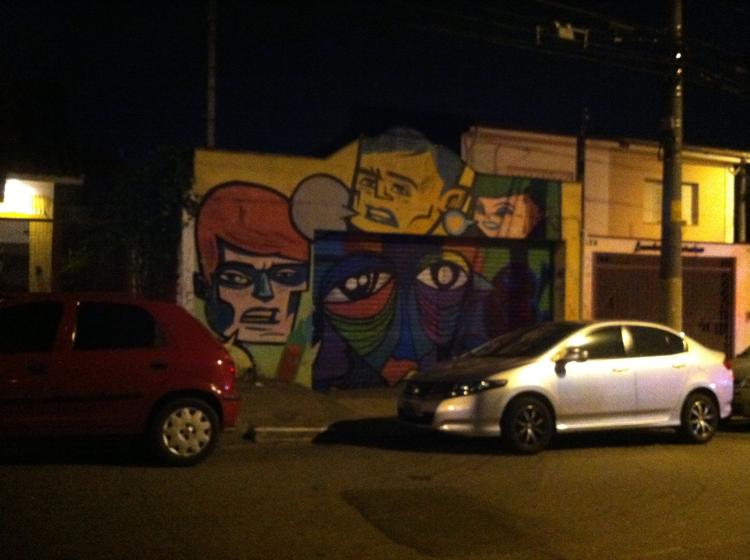UPDATE: On my last day in Sao Paulo, roomie, classmate, friend Andrew and I went searching for the street (name escapes me) that was known for street art before samba.  We found it!