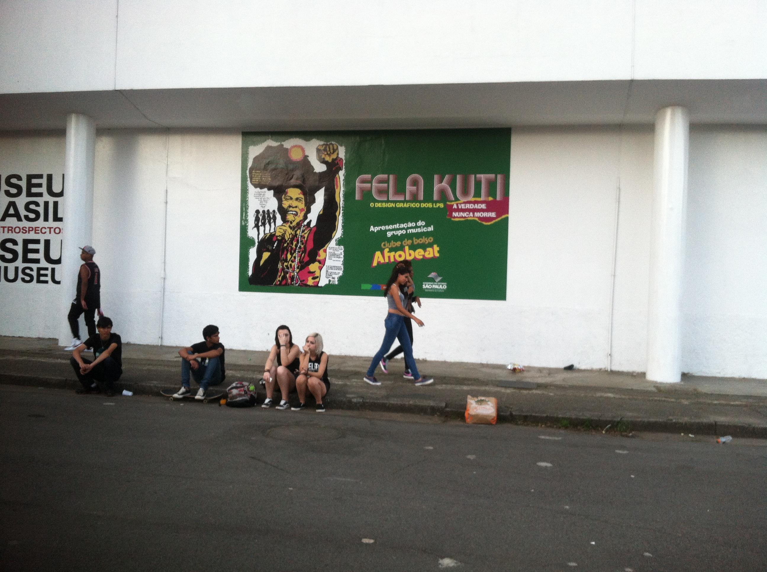 Fela on side of Afro-Brasilian Museum